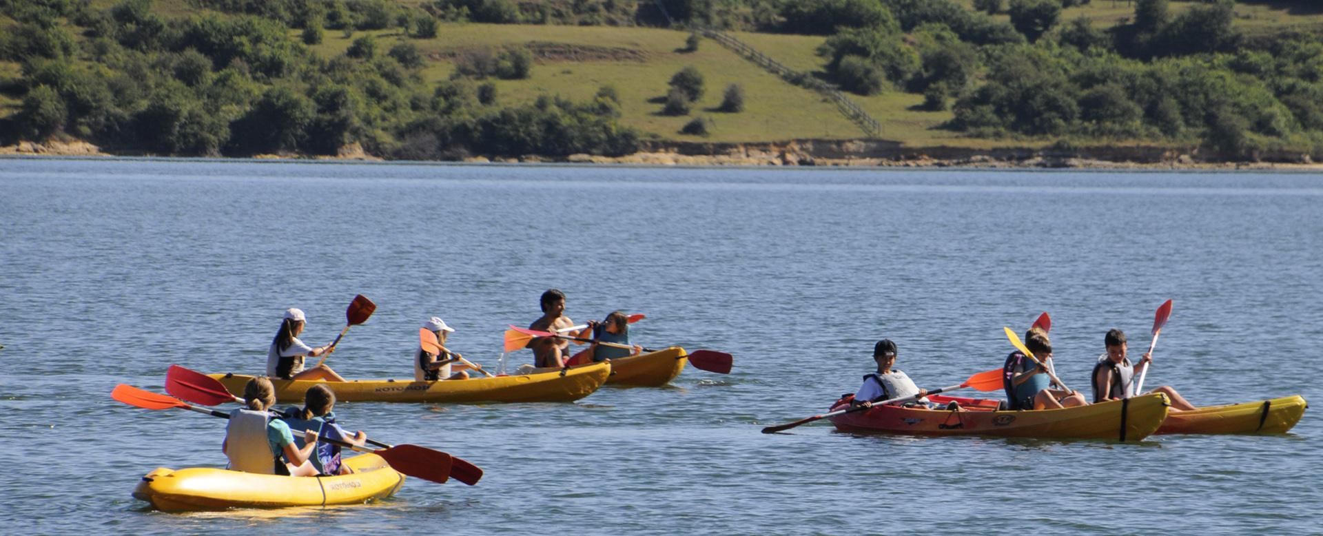 canoas campamento inglés en Cantabria